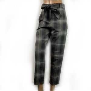WILFRED New Plaid Loose Fit High Waist Pants Small